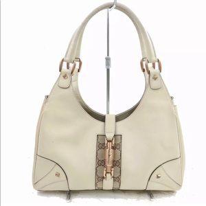 💯Authentic Gucci ❤️Leather Shoulder Bag